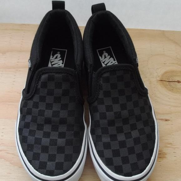 53de5b95e168 Vans Asher Boys Girls Checkered Skate Shoes. M 5b9c32c3bb76152e45fcbd1d